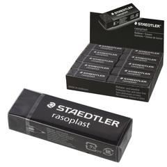 """Резинка стирательная STAEDTLER (Штедлер, Германия) """"RASOPLAST"""", 65x23x13 мм, с держателем, черная"""
