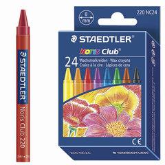 """Восковые мелки STAEDTLER (Штедлер, Германия) """"Noris Club"""", 24 цвета, круглые"""
