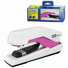 Степлер RAPID Supreme Omnipress Fullstrip SO30 (Швеция), до 30 листов, белый/розовый