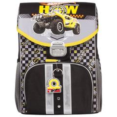 """Ранец жесткокаркасный ERICH KRAUSE для учеников начальной школы, """"Hot Wheels"""", 17 литров, 36х27х18 см"""