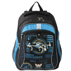 """Рюкзак ERICH KRAUSE для учеников начальной школы, """"Quadrocopters"""", 17 литров, 38х27х17 см"""