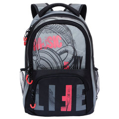 "Рюкзак GRIZZLY для старшеклассников/студентов/молодежи, ""Меломан"", 22 литра, 32х42х20 см"