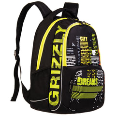 """Рюкзак GRIZZLY для учеников средней школы, """"Город"""", 22 литра, 32х42х20 см"""