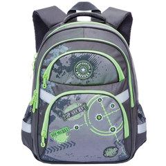 "Рюкзак GRIZZLY для учеников средней школы, ""Цель"", 22 литра, 29х39х17 см"