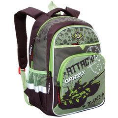 "Рюкзак GRIZZLY для учеников средней школы, ""Танк"", 23 литра, 30х40х18 см"