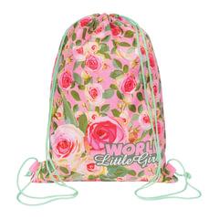 """Сумка для обуви GRIZZLY для учениц начальной школы, """"Розы"""", 35х42 см"""