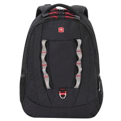 Рюкзак WENGER (Швейцария), универсальный, черный, 30 литров, 47х34х18 см