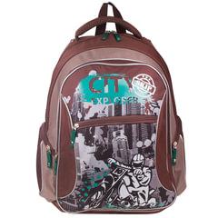 """Рюкзак ERICH KRAUSE для учеников начальной школы, """"City Explorer"""", 21 литр, 44х33х15 см"""