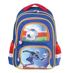 """Рюкзак BRAUBERG, с EVA спинкой, для учеников начальной школы, """"Дроид-футболист"""", 38х30х14 см"""