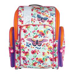 """Ранец жесткокаркасный BRAUBERG для учениц начальной школы, """"Бабочка в цветах"""", 36х26х14 см"""