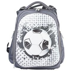 """Ранец жесткокаркасный BRAUBERG для учеников средней школы, 2 отделения, """"Футбольный принт"""", 38х28х12 см"""