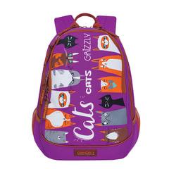 "Рюкзак GRIZZLY для учениц средних/старших классов, ""Cats"", 13 литров, 40х29х20 см"