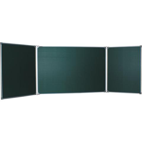 Доска для мела магнитная BOARDSYS, 100х150/300 см, 3-элементная, 5 рабочих поверхностей, зеленая