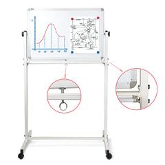 Доска магнитно-маркерная BRAUBERG 2-сторонняя, 60х90 см, передвижная, улучшенная алюминиевая рамка, ГАРАНТИЯ 10 ЛЕТ