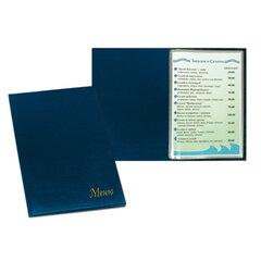 """Папка """"Меню"""" с 10 файлами, 220х320 мм, синяя, """"ДПС"""""""