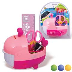 """Канцелярский детский набор BRAUBERG """"Кит"""", в форме кита, 5 предметов, ассорти, блистер"""