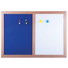 Доска магнитно-маркерная BRAUBERG, с текстильным покрытием, для объявлений А3, 342х484 мм, синяя/белая, ГАРАНТИЯ 10 ЛЕТ