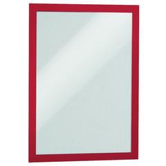 Рамки для рекламы и объявлений DURABLE (Германия), комплект 2 шт., DURAFRAME, настенные, магнитные, A4, самоклеящиеся, красные