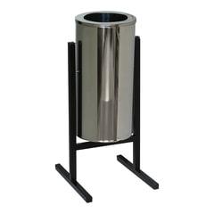 Урна металлическая уличная, 720х330х405 мм, 25 л, бак нержавеющая сталь, каркас черный