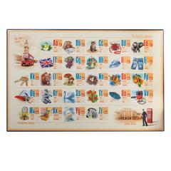 """Коврик-подкладка настольный для письма, с английским алфавитом, 380х590 мм, """"ДПС"""""""