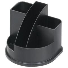 """Подставка-органайзер СТАММ """"Авангард"""", 132х122х108 мм, 5 отделений, черная"""