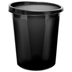Корзина для бумаг СТАММ цельная, 9 л, черная