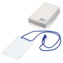 """Бейджи, комплект 10 шт., ПВХ, 123х79 мм, вертикальные, на синем шнурке 44 см, """"ДПС"""""""