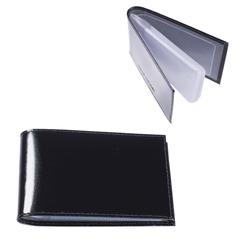 """Визитница карманная BEFLER """"Classic"""" на 40 визиток, натуральная кожа, черная"""