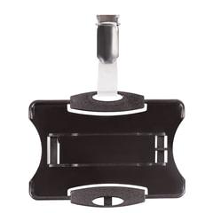 Держатель для пропусков DURABLE (Германия), комплект 25 шт., жесткий пластик, металлический поворотный клип, черный