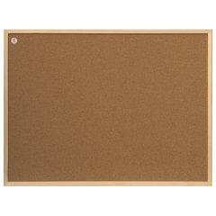 """Доска пробковая 80x60 см, деревянная рамка, ECO """"2х3"""" (Польша)"""