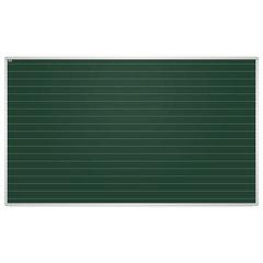 """Доска для мела магнитная, 100x170 см, зеленая, в линию, алюминиевая рамка, EDUCATION """"2х3""""(Польша)"""