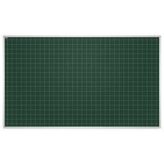"""Доска для мела магнитная, 100x170 см, зеленая, в клетку, алюминиевая рамка, EDUCATION """"2х3""""(Польша)"""