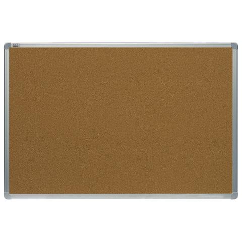 """Доска-витрина пробковая, 90x120 см, OFFICE, алюминиевая рамка, """"2х3"""" (Польша)"""