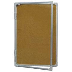 """Доска-витрина пробковая, 90x60 см, алюминиевая рамка, OFFICE, """"2х3"""" (Польша)"""