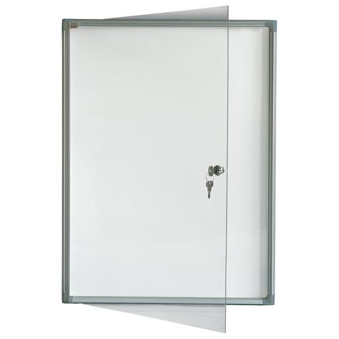"""Доска-витрина магнитно-маркерная, 3 листа А4, алюминиевая рамка, OFFICE, """"2х3"""" (Польша)"""