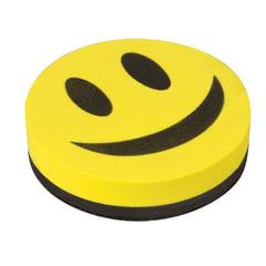 """Стиратель магнитный для магнитно-маркерной доски 90 мм """"Смайлик"""", STAFF, упаковка с подвесом"""