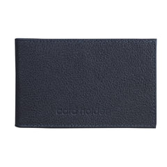"""Визитница карманная BEFLER """"Грейд"""", на 40 визиток, натуральная кожа, тиснение, синяя"""