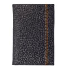"""Обложка для паспорта FABULA """"Brooklyn"""", натуральная кожа, контрастная отстрочка, черная"""