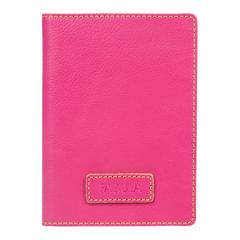 """Бумажник водителя FABULA """"Ultra"""", натуральная кожа, 6 пластиковых карманов, розовый"""