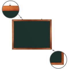 Доска для мела магнитная BRAUBERG, 60х90 см, зеленая, деревянная окрашенная рамка, Россия