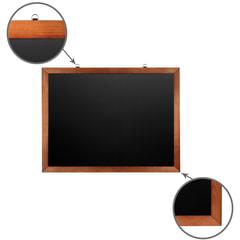 Доска для мела магнитная BRAUBERG, 60х90 см, черная, деревянная окрашенная рамка, Россия