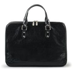 Портфель-сумка женский из кожзама, на молнии, 380х270х100 мм, черный
