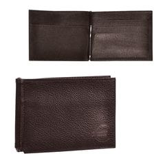 """Зажим для купюр BEFLER """"Грейд"""", натуральная кожа, тиснение, 120х86 мм, коричневый"""