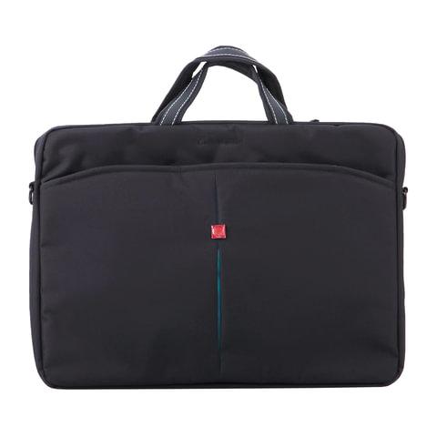 """Сумка деловая CONTINENT CC-01, отделение для планшета и ноутбука 15,6"""", ткань, черная, 41x29x4 см"""
