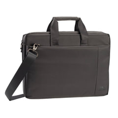 """Сумка деловая RIVACASE 8251 grey, отделение для планшета и ноутбука 17,3"""", ткань, серая, 45,5x32x7 см"""