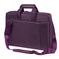 """Сумка деловая RIVACASE 8231 purple, отделение для планшета и ноутбука 15,6"""", ткань, пурпурная, 39x29x7 см"""