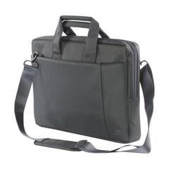 """Сумка деловая RIVACASE 8231 grey, отделение для планшета и ноутбука 15,6"""", ткань, серая, 39x29x7 см"""