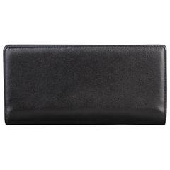 """Портмоне мужское FABULA """"Estet"""", натуральная кожа, на кнопке, 185х95 мм, черное"""