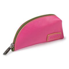 "Футляр для ключей FABULA ""Ultra"", натуральная кожа, молния, 145x75x40 мм, розовый"
