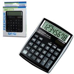 Калькулятор CITIZEN настольный CDC-80BKWB, 8 разрядов, двойное питание, 135x108 мм, черный